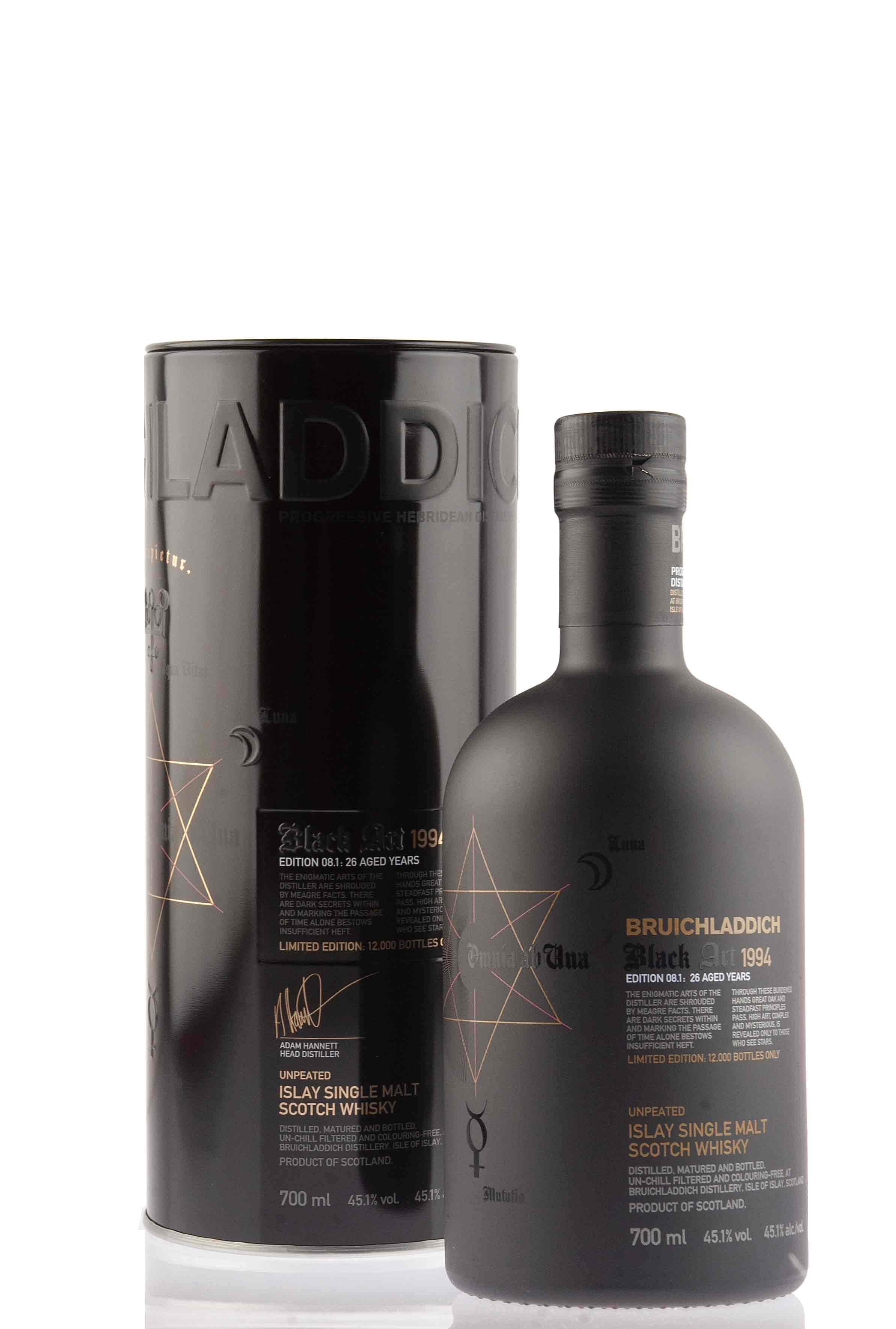 Bruichladdich Black Art -08.1 - 26 Year Old - 1994 | Abbey Whisky