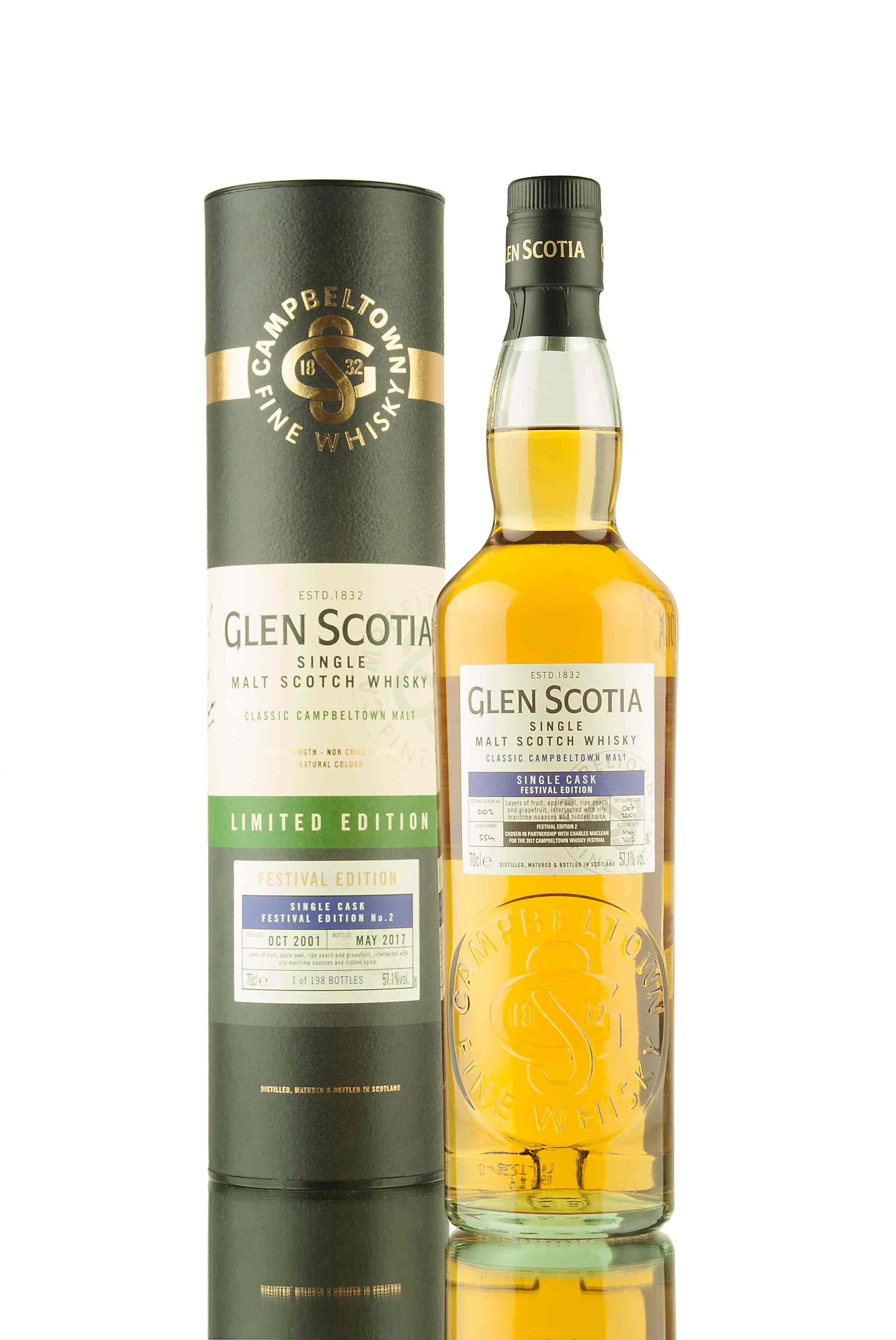 Glen Scotia 15 Year Old - 2001 | Cask 554 | Festival Edition 2