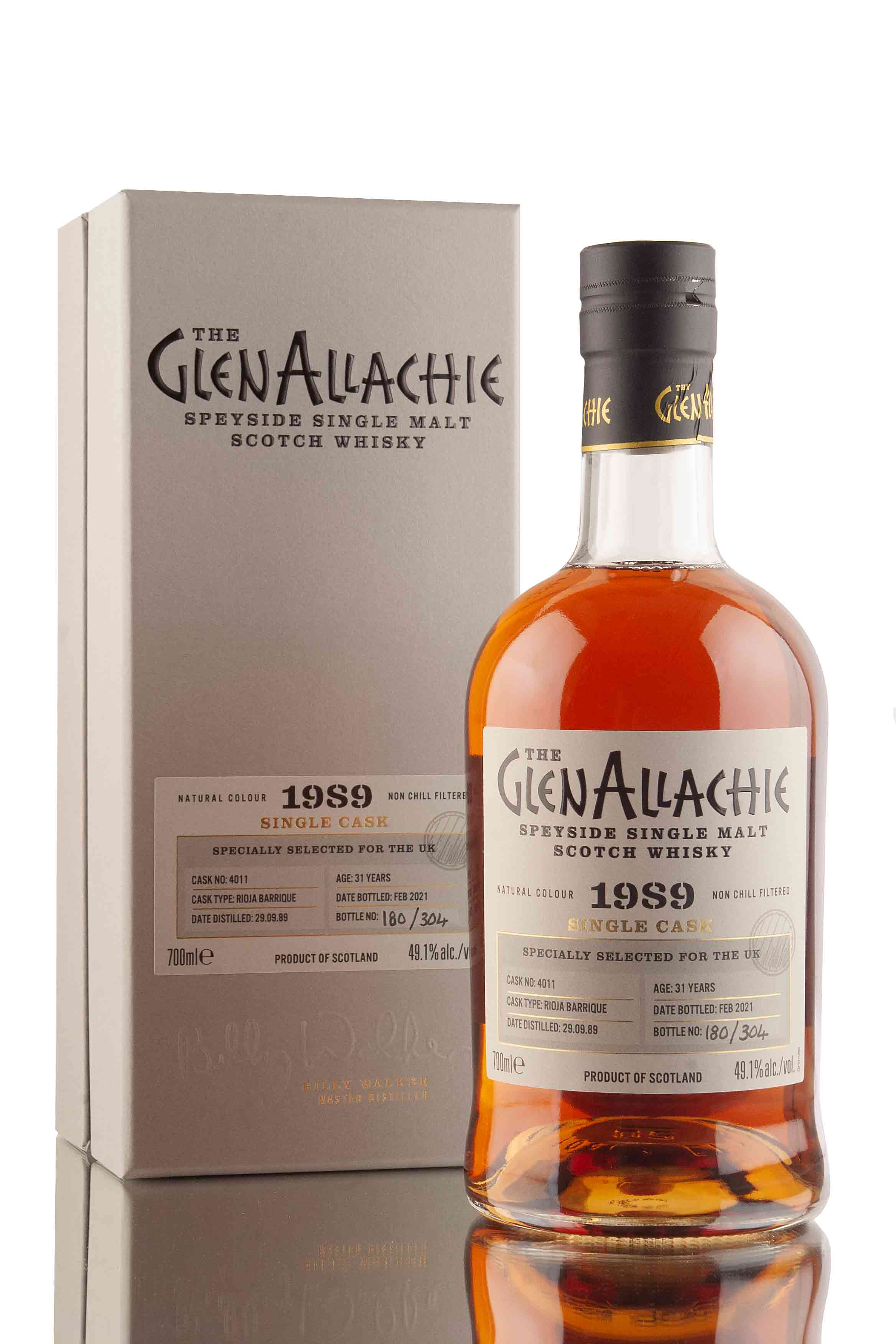 GlenAllachie 31 Year Old - 1989 | Cask 4011 | UK Exclusive Single Casks | Abbey Whisky