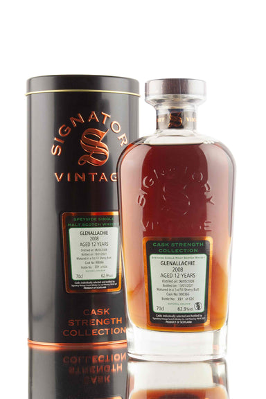 GlenAllachie 12 Year Old - 2008 | Cask 900366 | Cask Strength - Signatory | Abbey Whisky