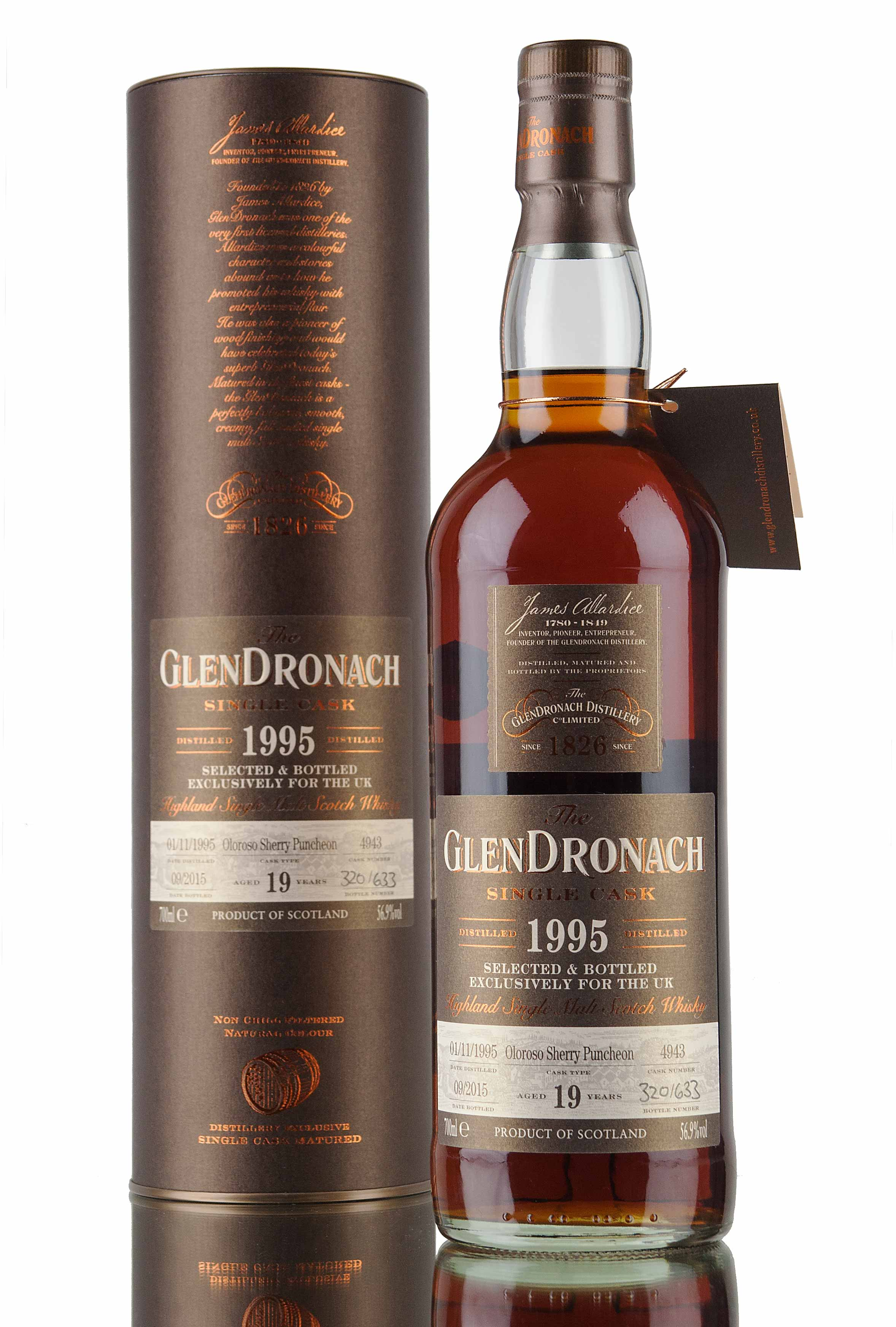 GlenDronach 19 Year Old - 1995 / Cask 4943 / UK Exclusive