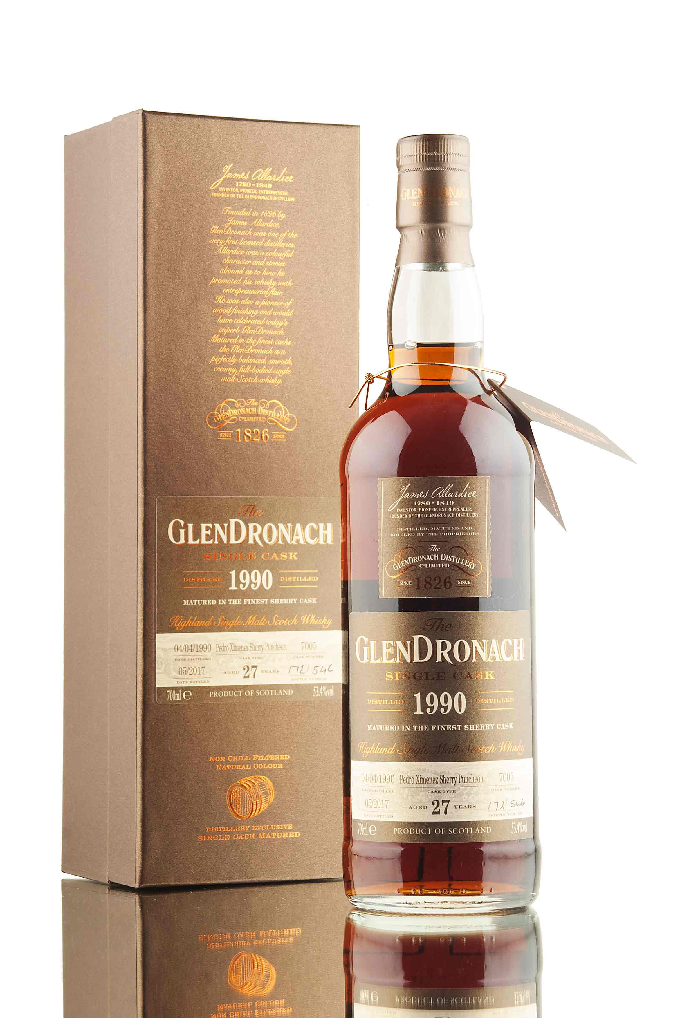 GlenDronach 27 Year Old - 1990 | Single Cask 7005 | Batch 15
