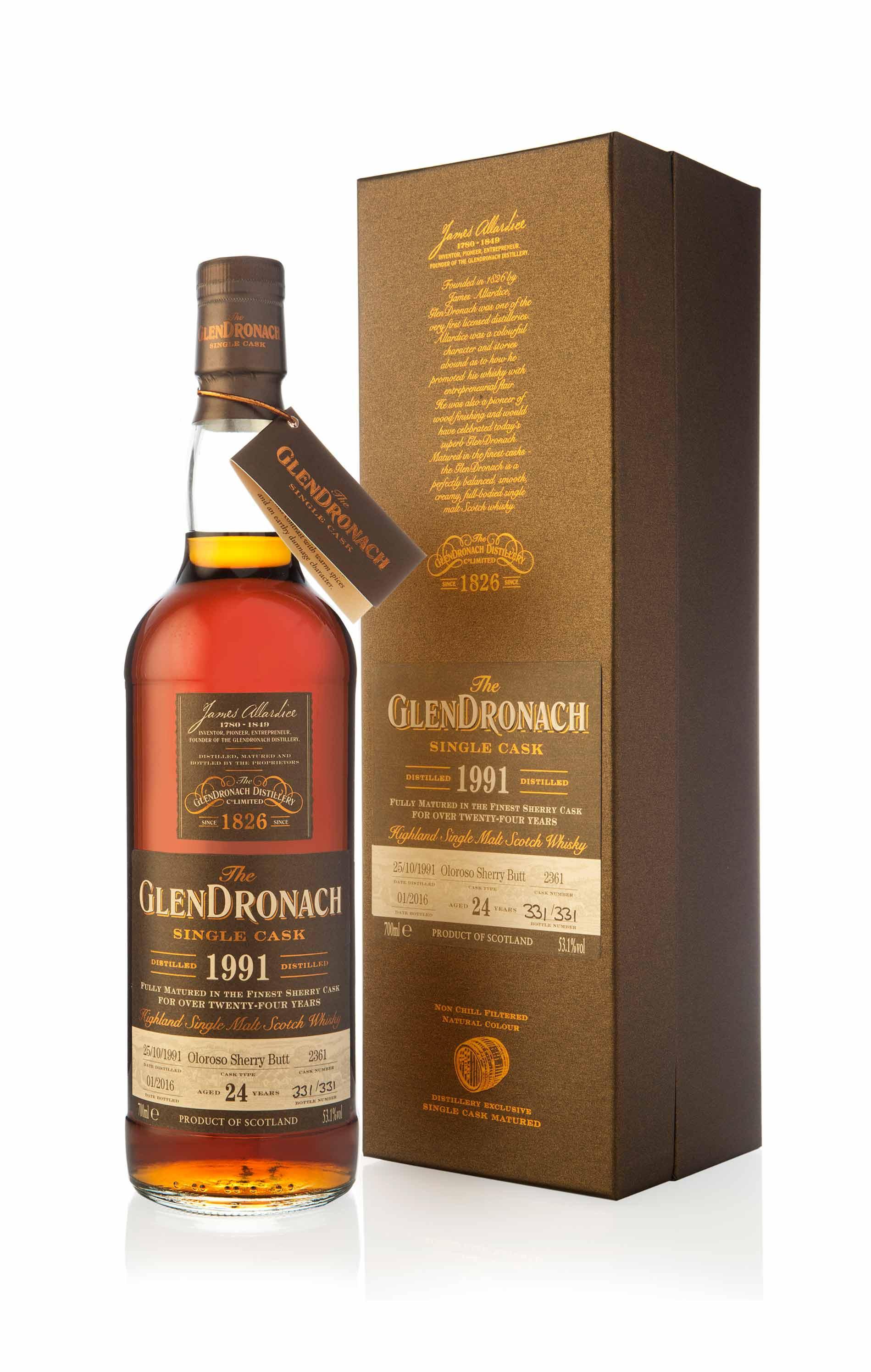 GlenDronach 1991 - 24 Year Old / Cask 2361 Batch 13