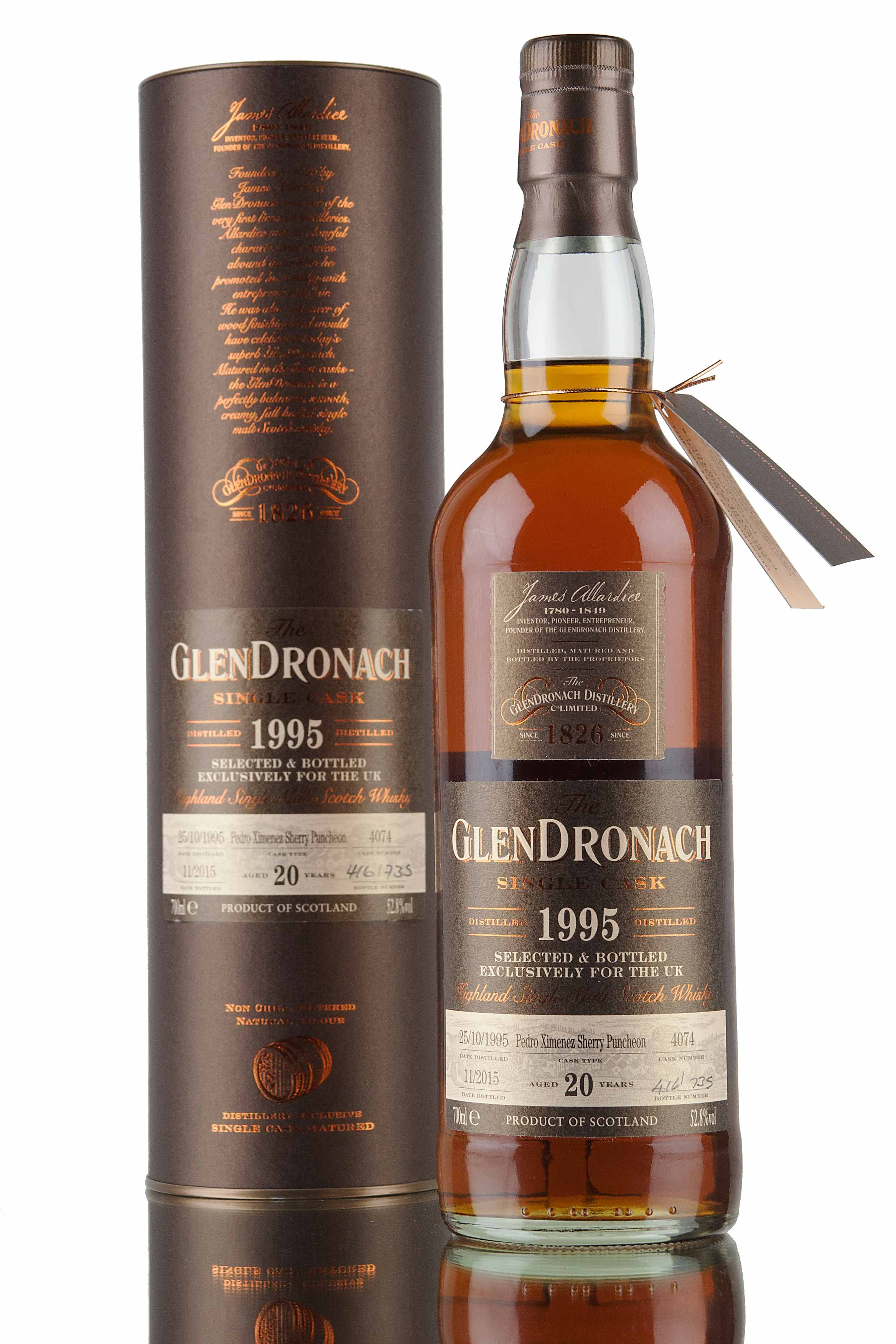 GlenDronach 20 Year Old - 1995 / Cask 4074 / UK Exclusive