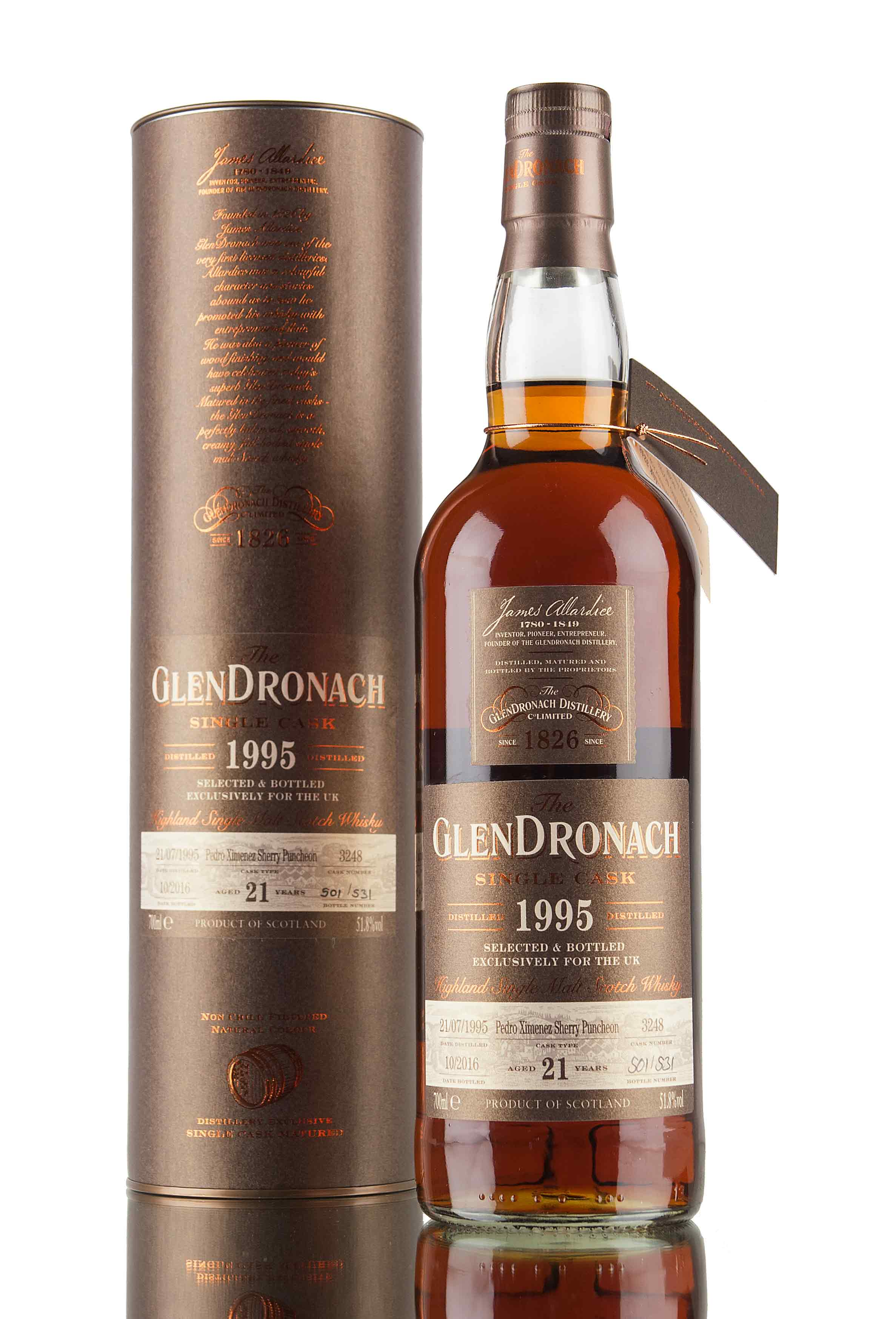 GlenDronach 21 Year Old - 1995 / Single Cask #3248