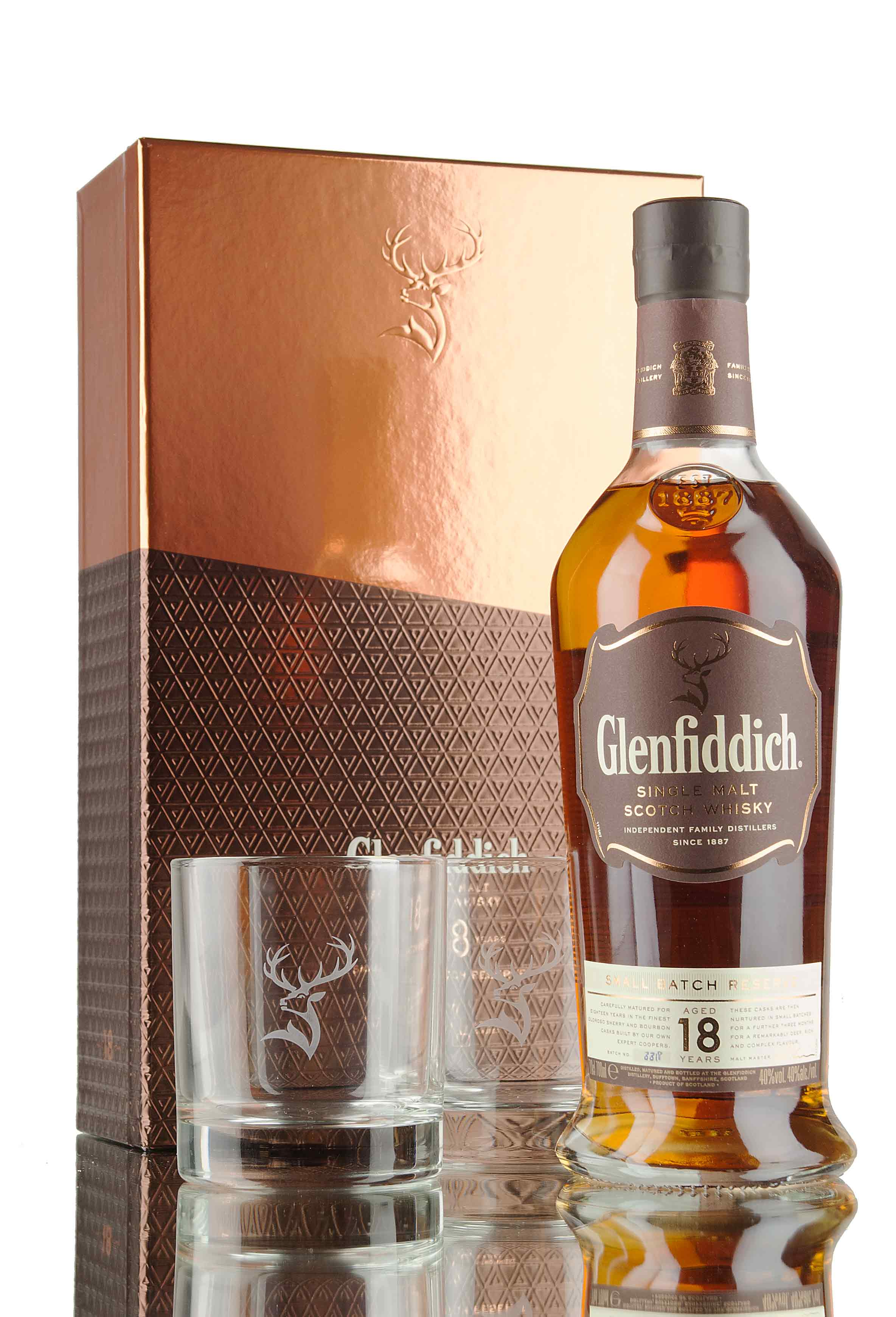 Glenfiddich 18 Year Old Glass Gift Pack
