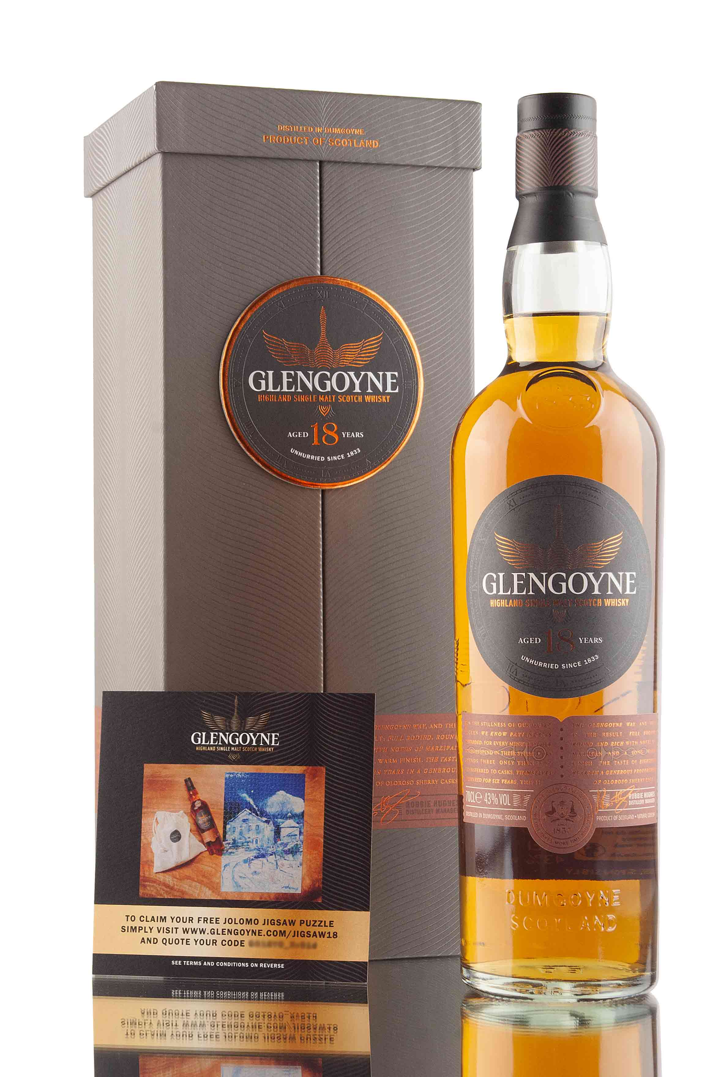 Glengoyne 18 Year Old + Limited Edition Puzzle | Abbey Whisky