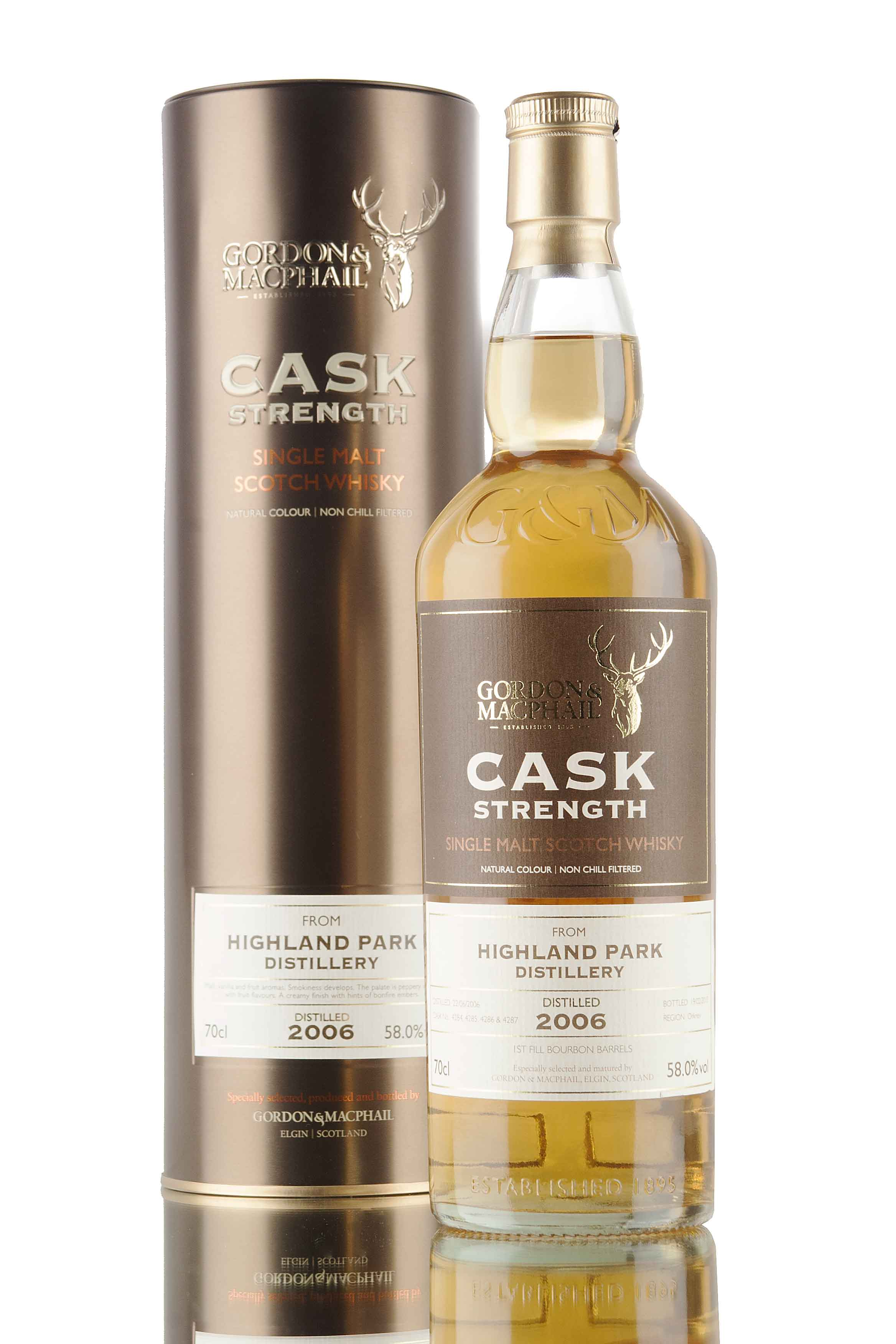 Highland Park 8 Year Old - 2006 / Cask Strength / G&M