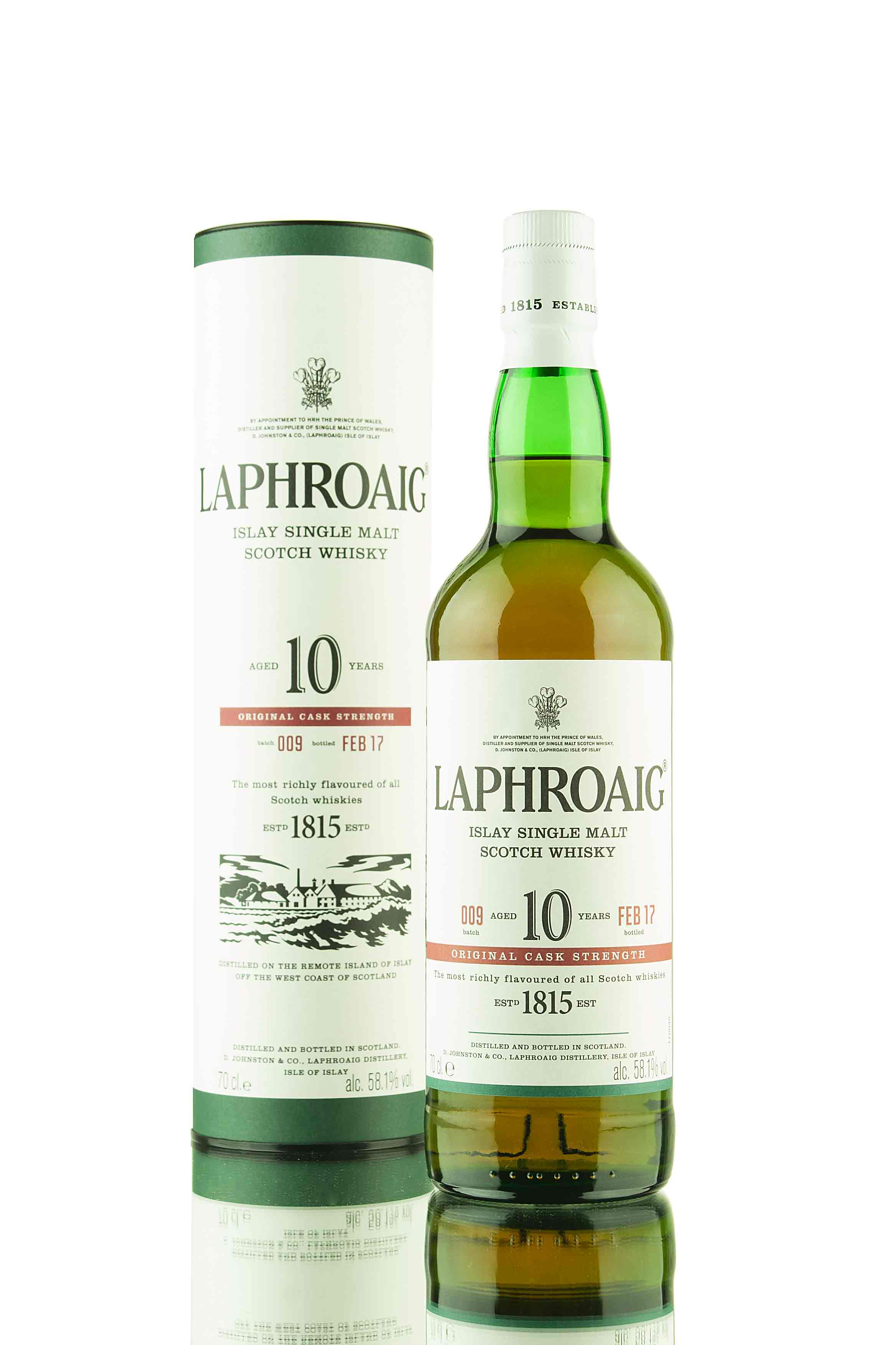 Laphroaig 10 Year Old Cask Strength Batch 009