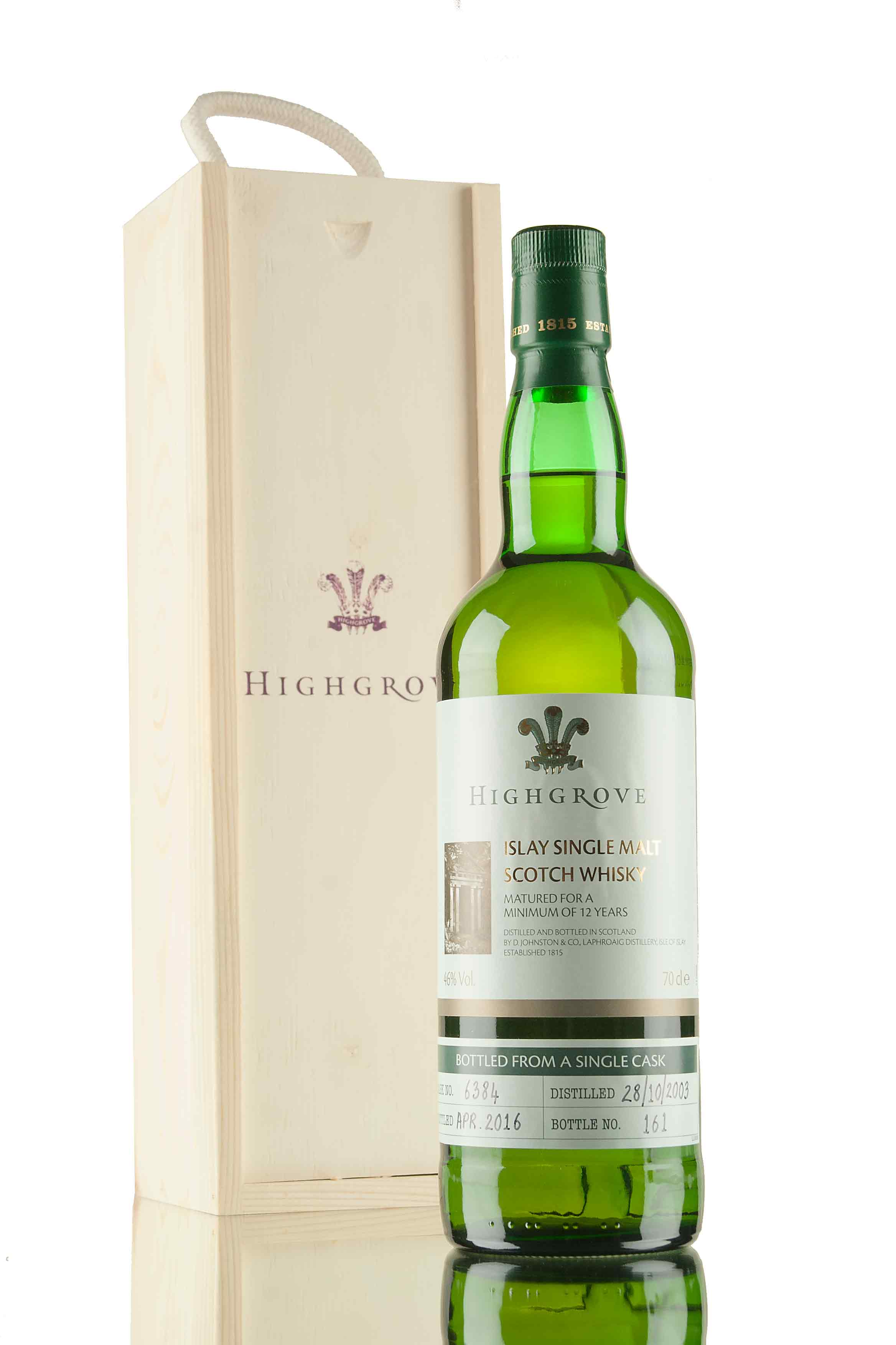 Laphroaig 12 Year Old - 2003 / Single Cask 6384 (Highgrove)