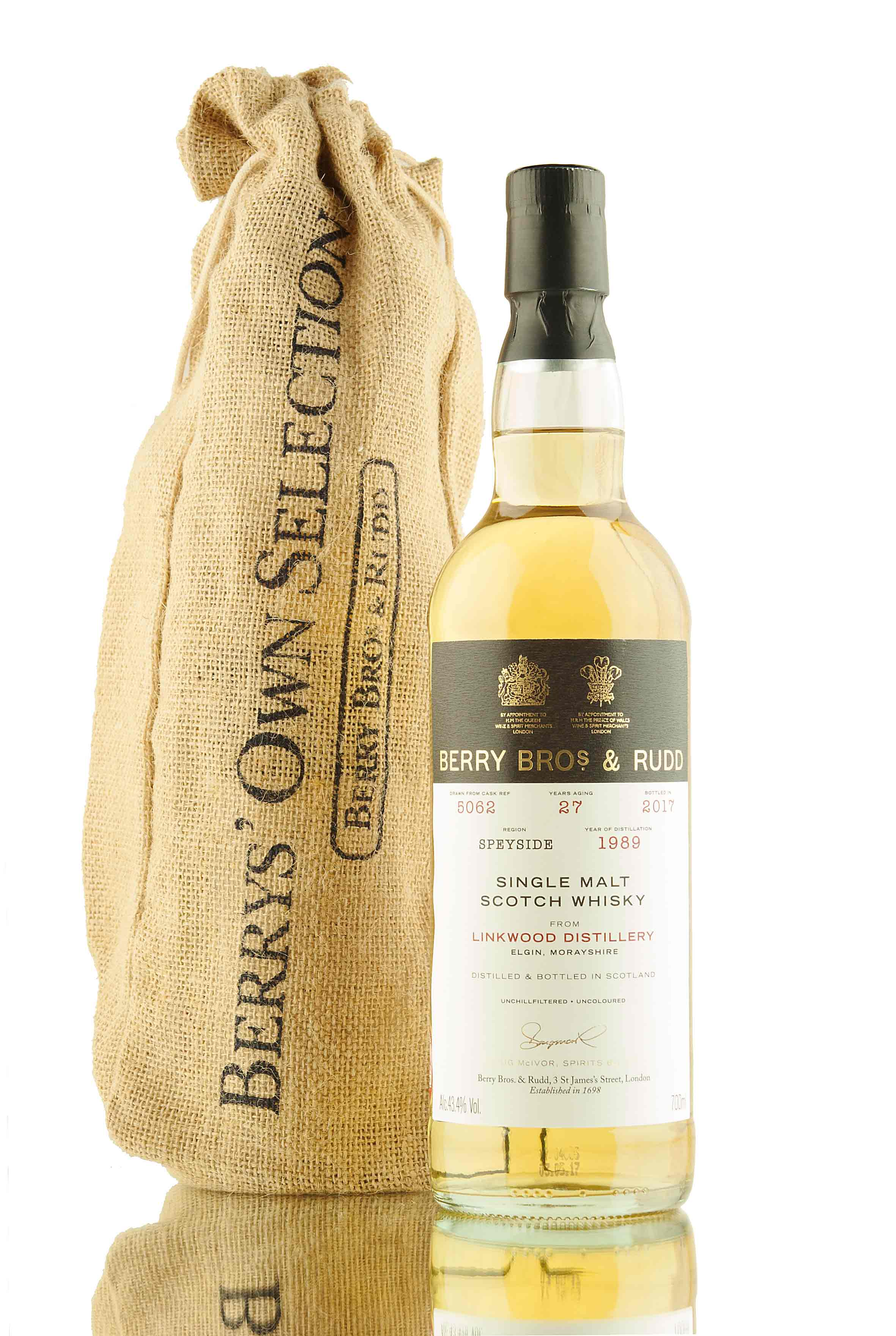 Linkwood 27 Year Old - 1989 | Cask 5062 | Berry Bros