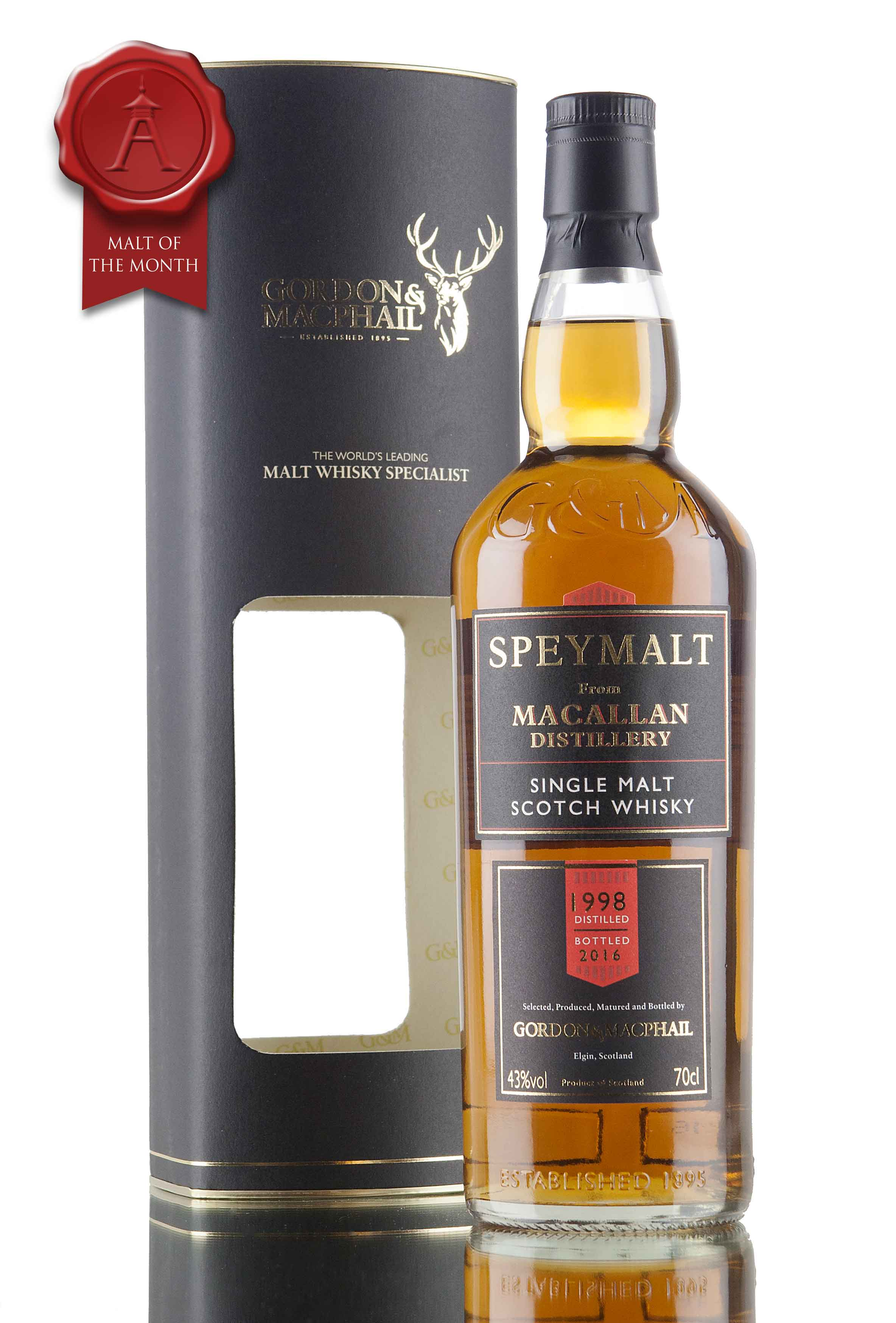 Macallan 1998 Speymalt - Bottled 2016 / Gordon & MacPhail