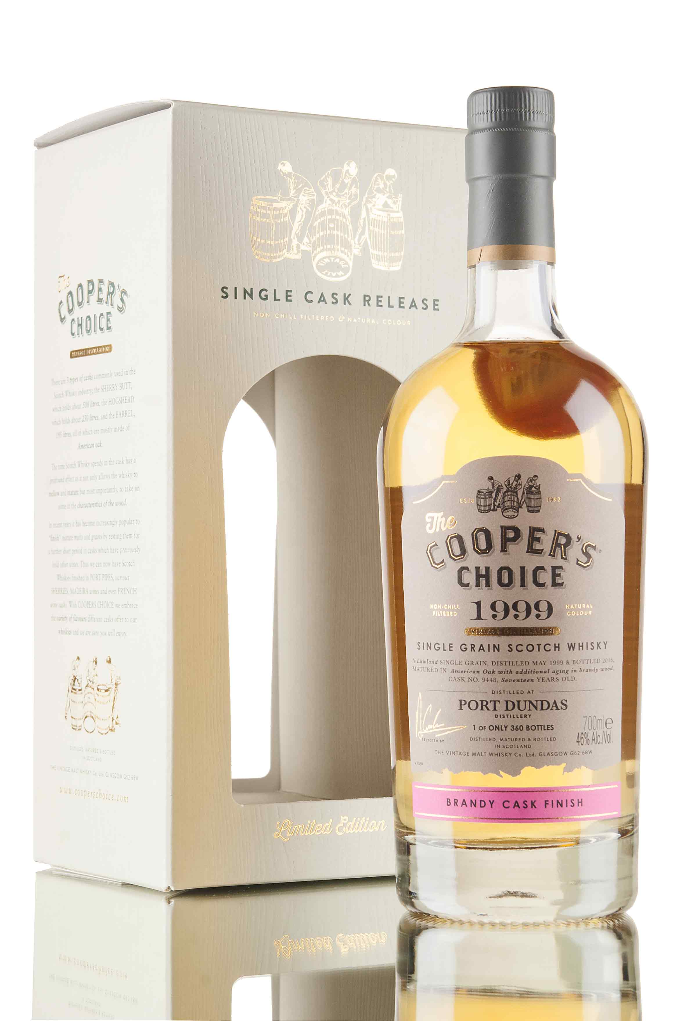 Port Dundas 17 Year Old - 1999 / Cask 9448 / Cooper's Choice