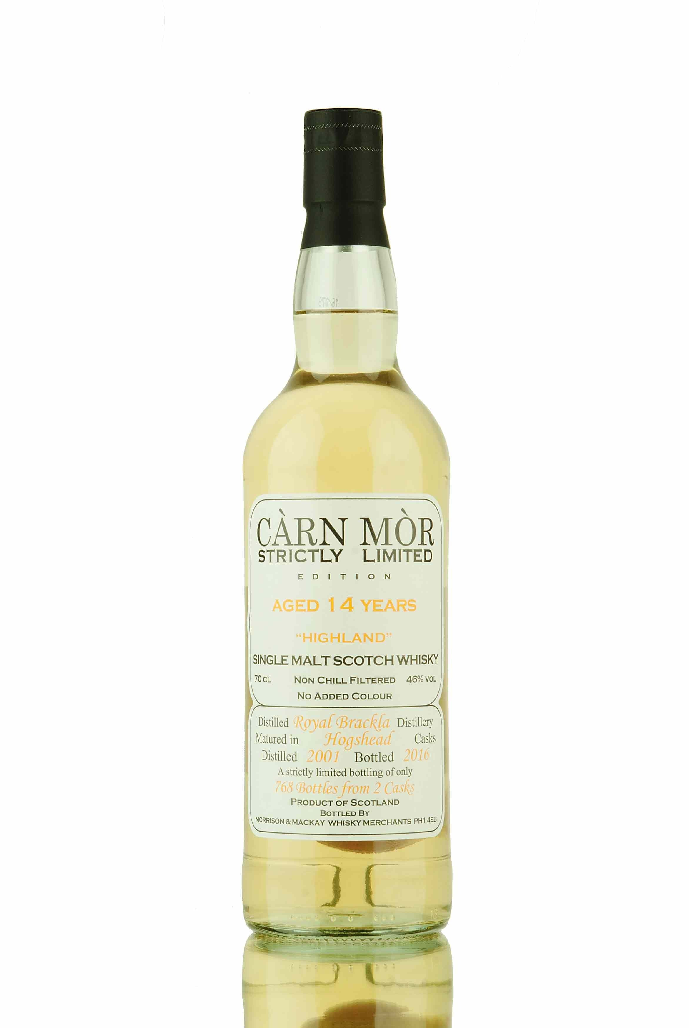Royal Brackla 14 Year Old - 2001 | Càrn Mòr Strictly Limited