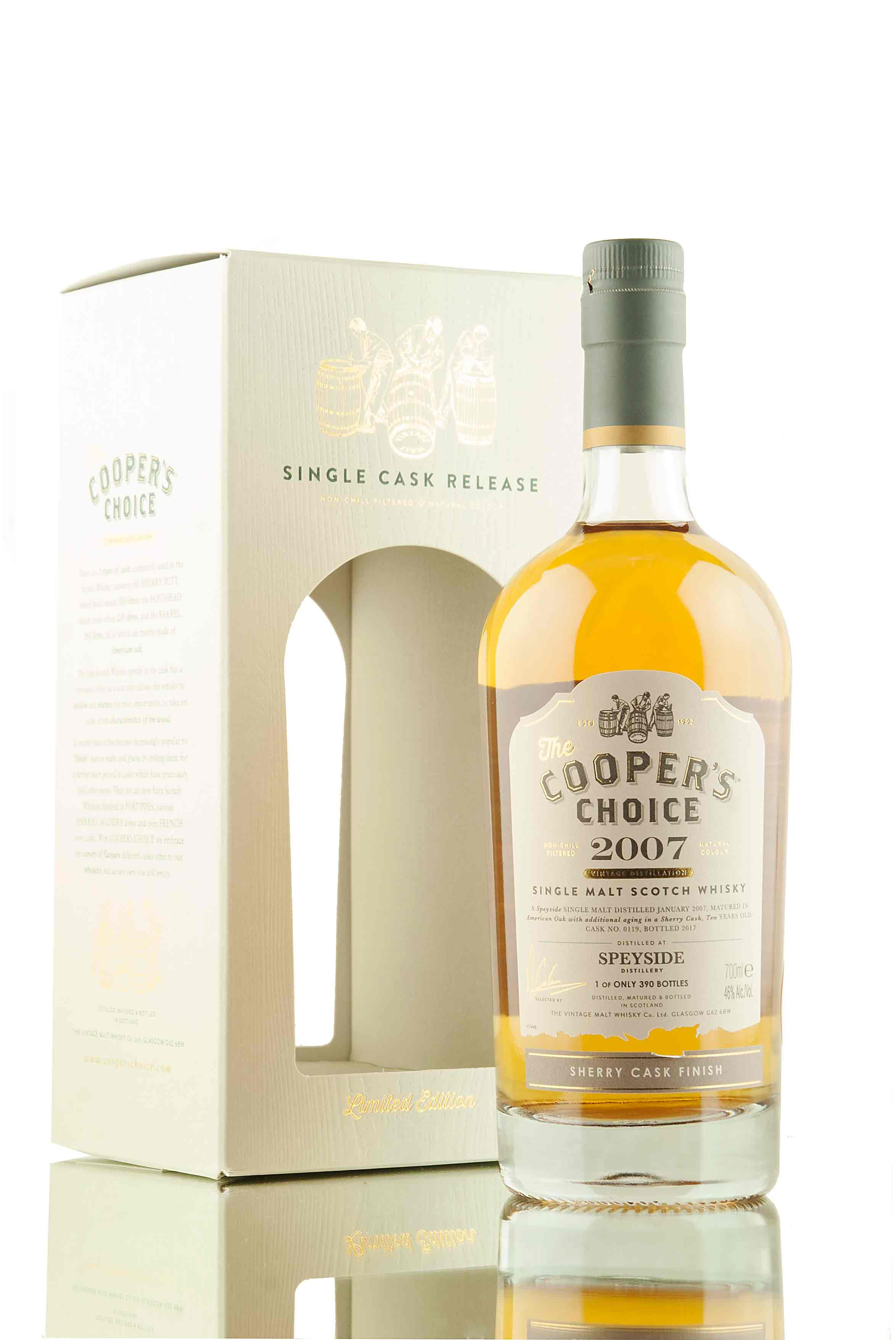 Speyside 10 Year Old - 2007 | Cask 0119 | The Cooper's Choice