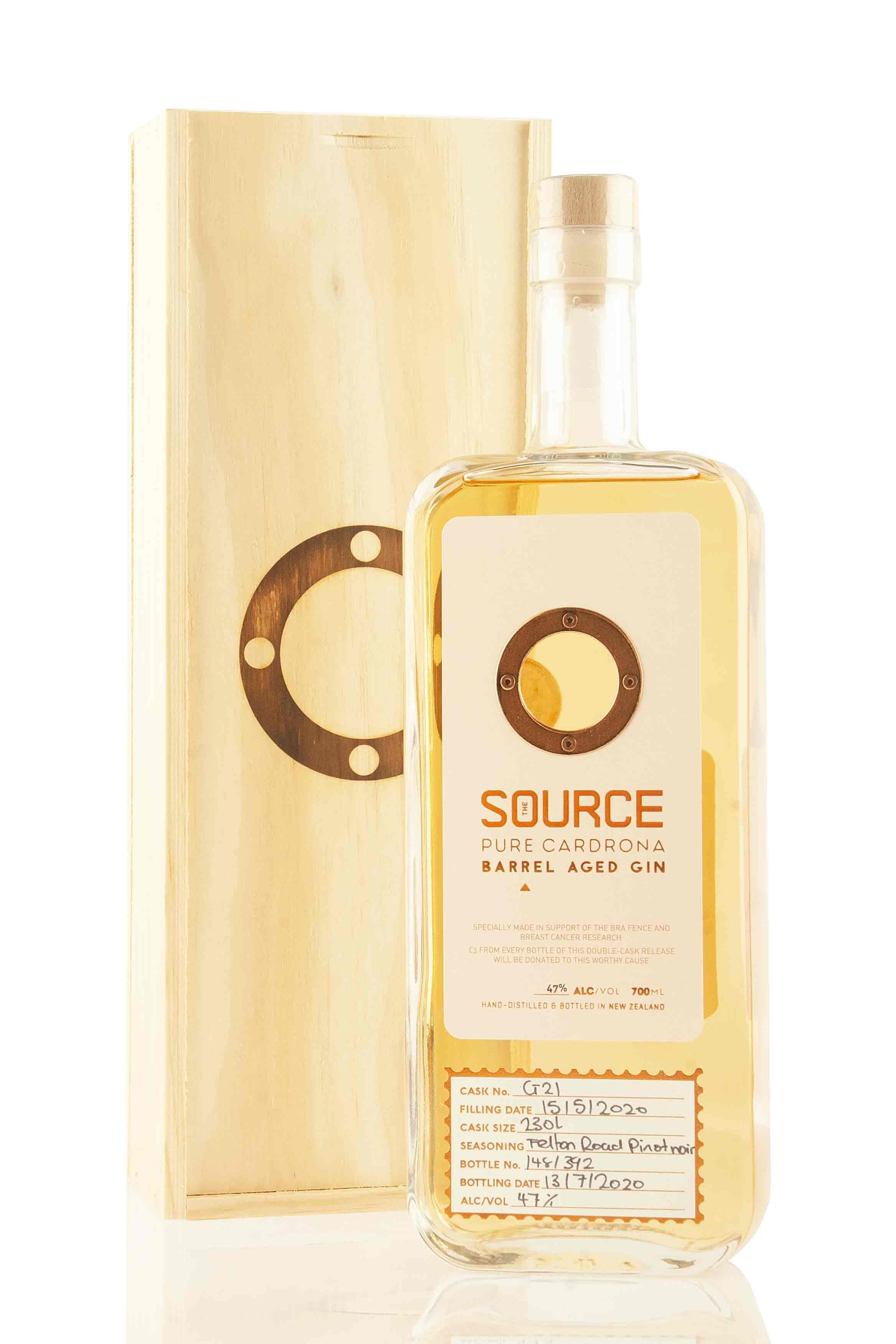 The Source Barrel Aged Pink Gin | Cardrona Distillery