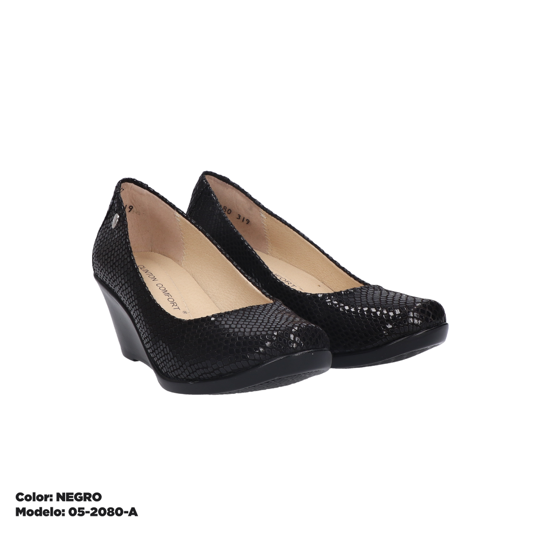 Zapatos Confort Dama Negro.Or 05-2080-A