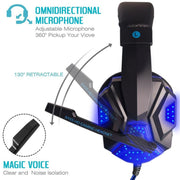 Gaming Headphones With Light Mic