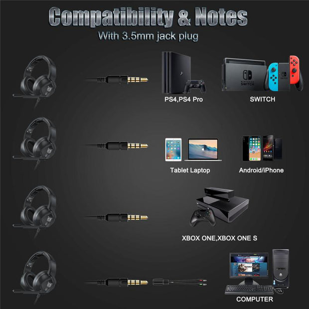 K19 Gaming LED MIC Headset