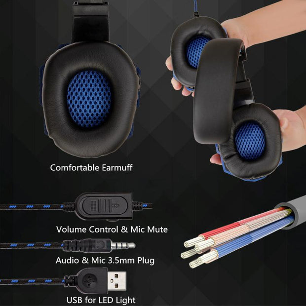 3.5mm Wired Gaming Headset With Mic