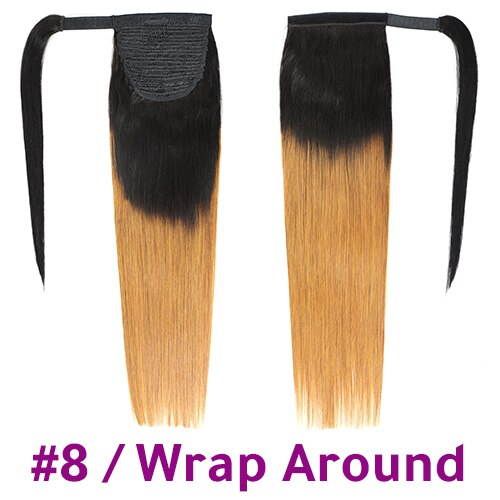 "Wrap Around Ponytail Human Hair Brazilian 4 Colors 10""-24"""