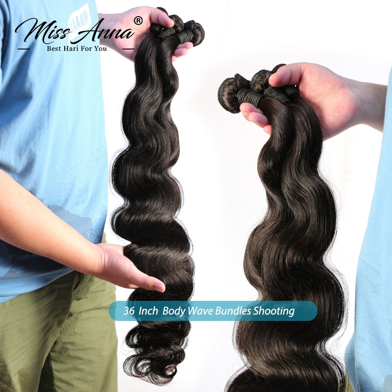 Indian Raw Body Wave Bundles 30-40 Inch 100% Remy