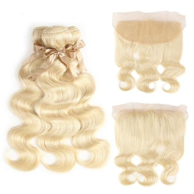 #613 Peruvian Body Wave 3 Bundles & Closure / Lace Frontal