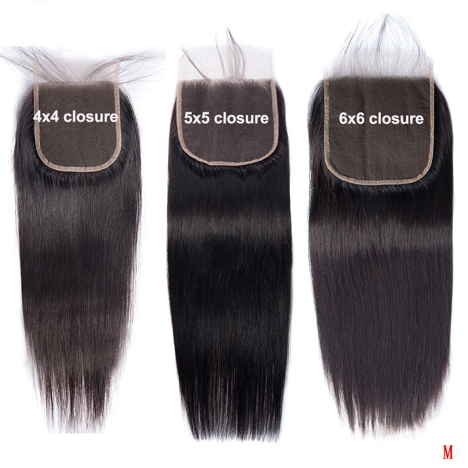18 20 Inch 6x6 5x5 4x4 Lace Closure Remy 100% Human Hair 2x6 Peruvian Straight 613 Closure Pre Plucked Lace Frontal