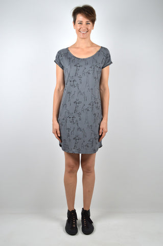 Giraffe Grey T-Shirt Dress
