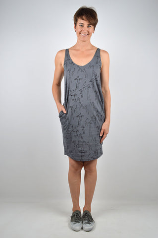 Giraffe singlet slouch dress