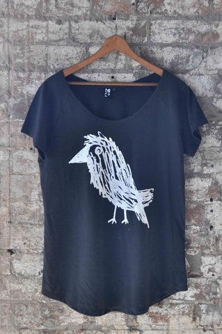 T-shirt with Crow