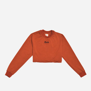 Strada Cropped Pullover SKY - Terracotta