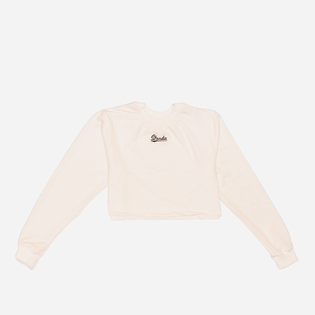 Strada Cropped Pullover SKY - Off White