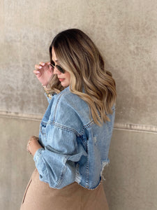 Tiffany Crop Denim Jacket