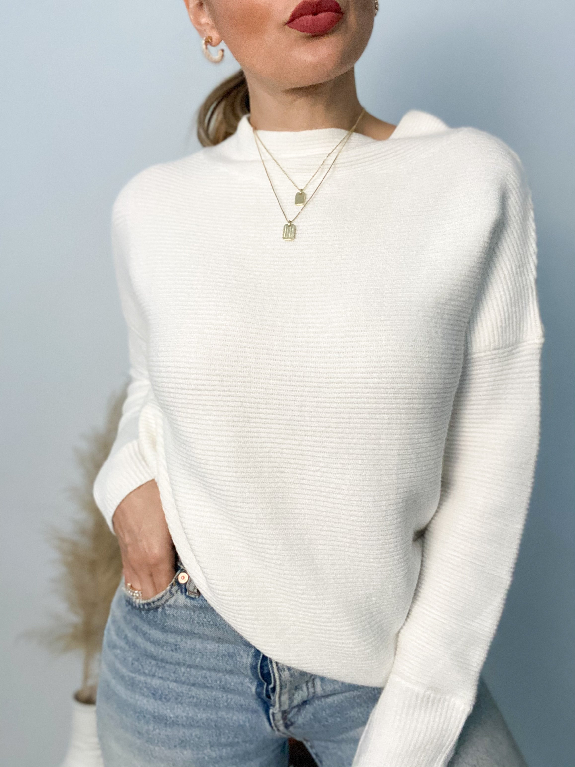 Halo Loose Fit Ribbed Sweater