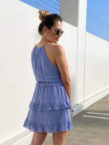 Greece  Sleeveless Ruffle Dress