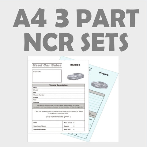 A4 3 Part NCR Sets