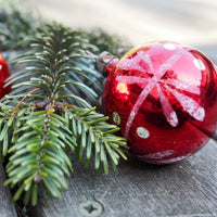Red vintage Christmas tree bauble