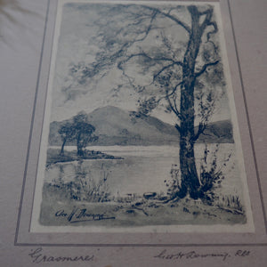 GRASMERE - FRAMED SIGNED PRINT BY GEORGE H DOWNING
