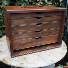 Load image into Gallery viewer, Vintage table top chest of drawers small vintage chest of drawers