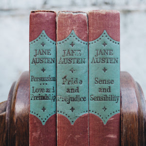 BEAUTIFUL SET OF THREE VINTAGE JANE AUSTIN BOOKS