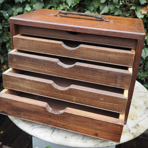 Vintage tabletop chest of drawers