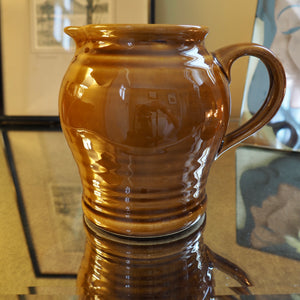 BROWN GLAZED MILK JUG