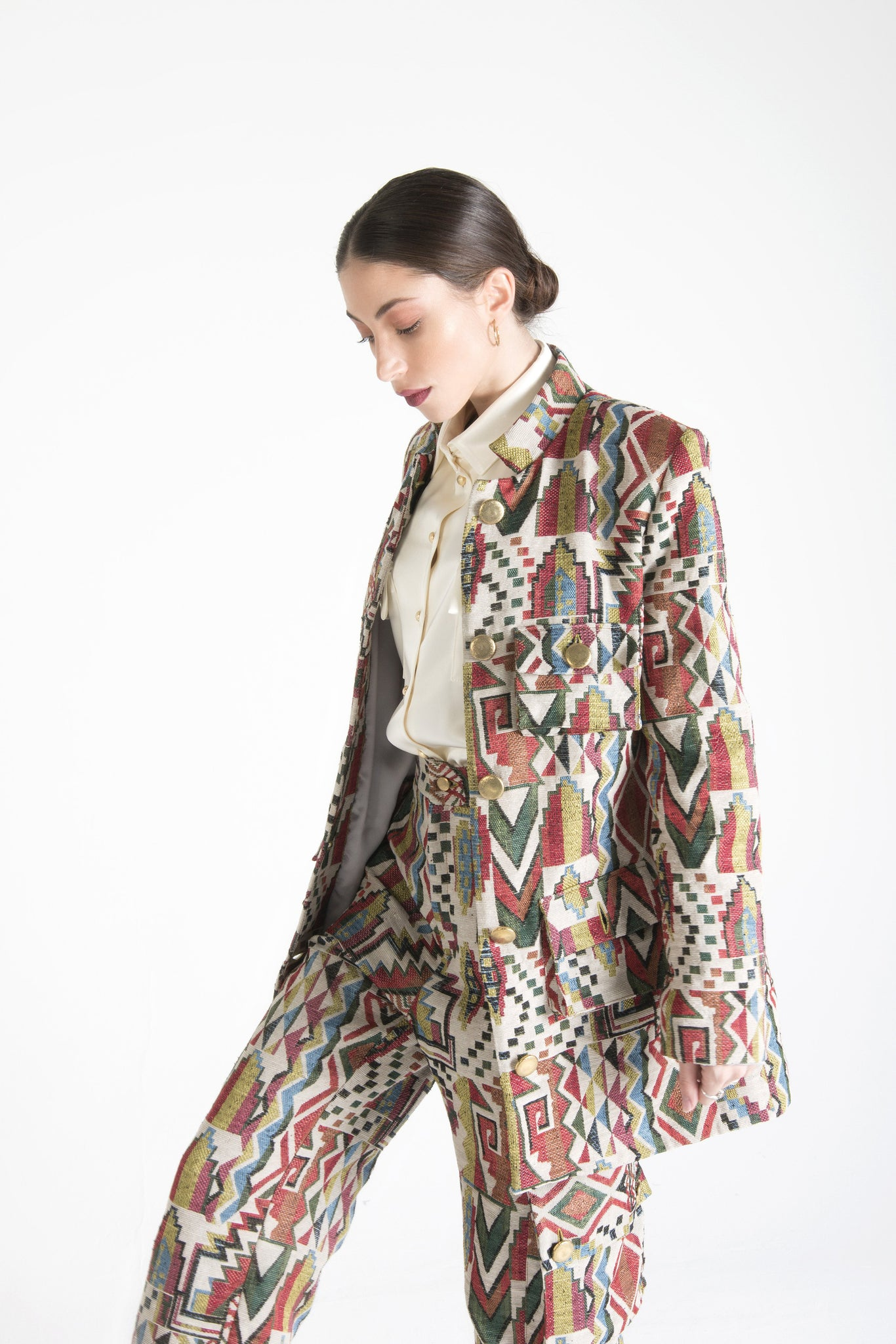 Multicolor Jacket with Pockets