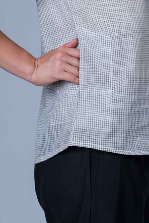 Black and White checks Organic cotton Top - AHELI