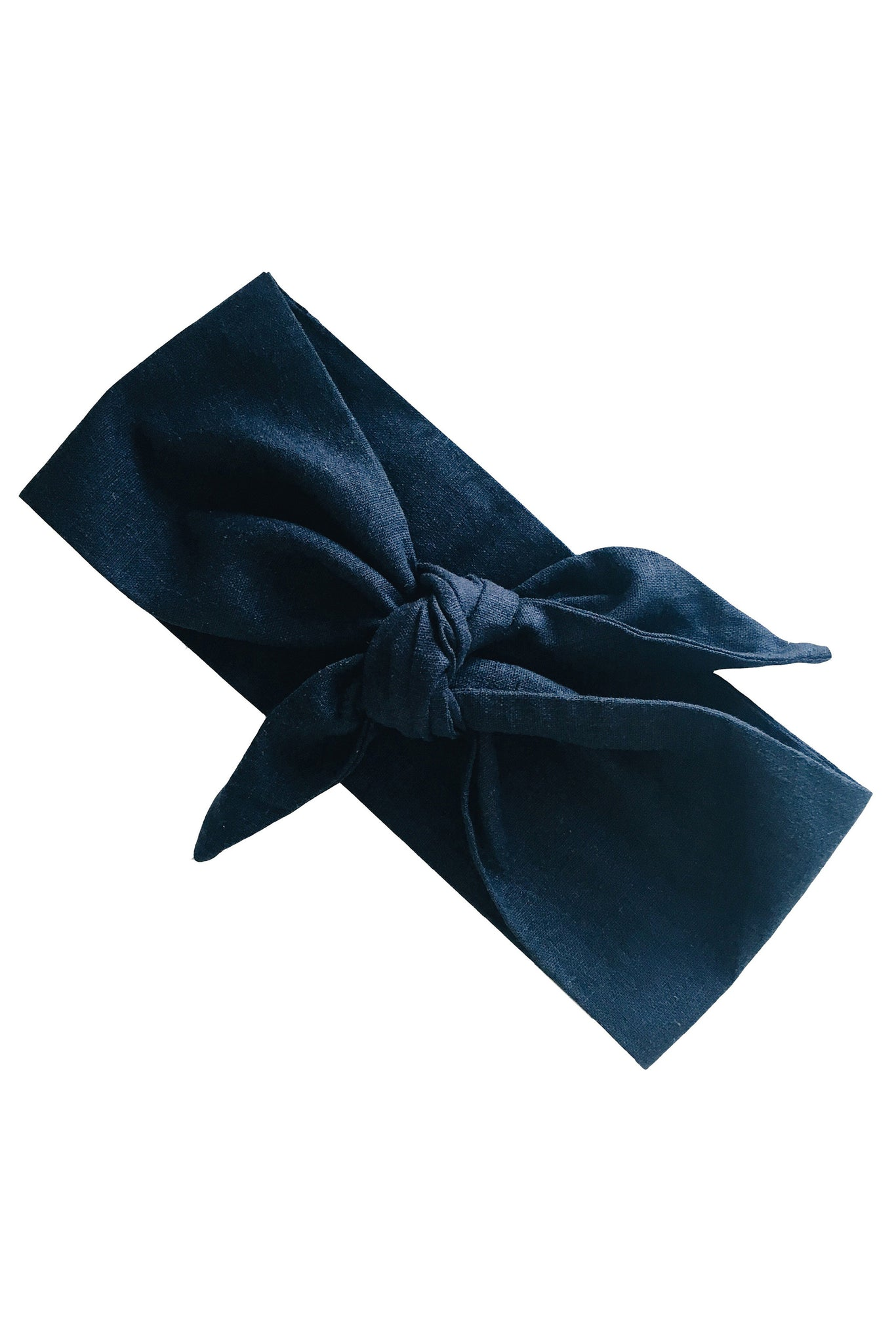 CRUISING CAPRI LINEN HEAD WRAP - NAVY BLUE