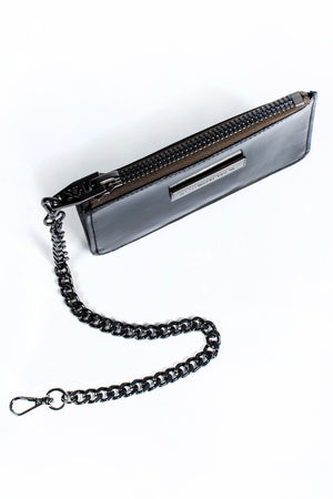Coin Purse - Black Patent/Gunmetal
