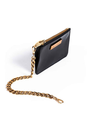Coin Purse - Black Patent/Gold