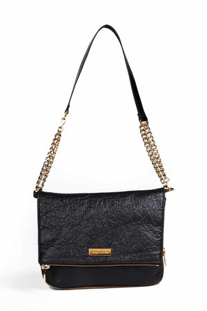 Ziplock Foldover Crossbody Bag - Granite