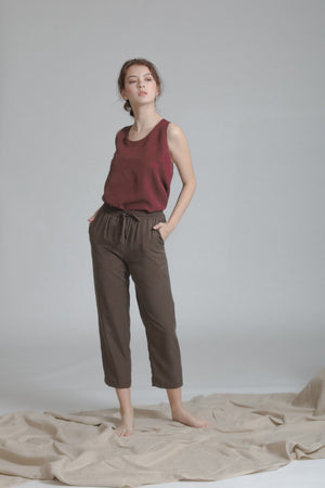 Relaxed Drawstring Capri